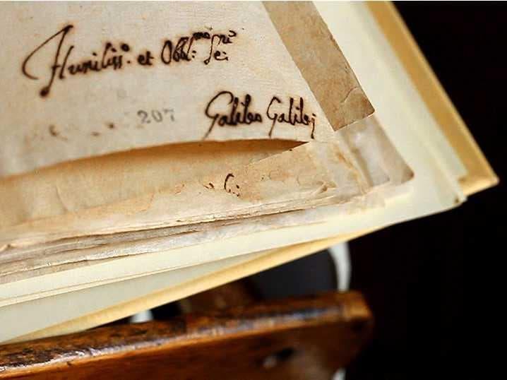 Страница с подписью Галилео Галилея из протокола его допроса. Архив Ватикана. 1638 год