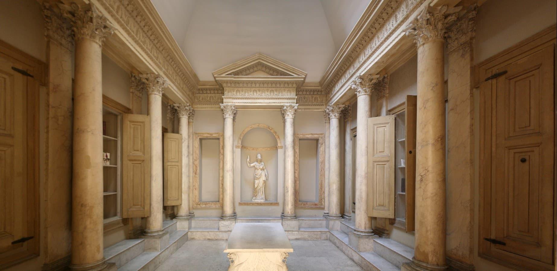 Реконструкция интерьера библиотеки Ульпия. Рим. 112 год.